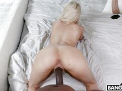 Elsa Jean Gets Pussy Drilled By The Huge Black Obelisk