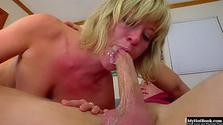 Voracious Blonde Naomi Cruz Gets Her Mouth Fucked By Colossal Fat Prick