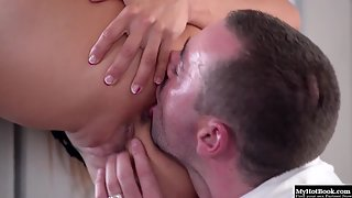 Stocking Wearing Lusty Mia Melone Gets Gang Banged In POV