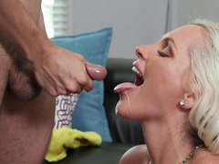 Ricky Blows His Load Directly In Alena Croft's Mouth