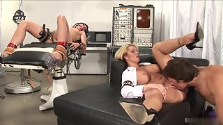 Sexy Ava Rose Is Tied Up While Brooke Haven Gets Fucked