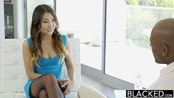 BLACKED Tight Asian Babe Jade Luv Screams On Massive Black Cock