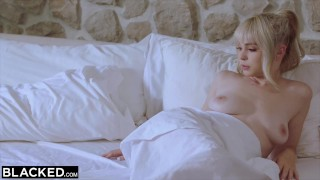 BLACKED BBC Hungry Tiny Blonde Gets Creampied By Roommate