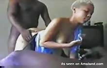 Kinky Black Teen In A Threesome
