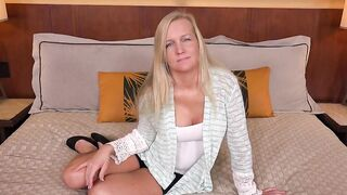 Big Boobs Blonde Cougar Is Eager To Have POV Intercourse With Her Stepson