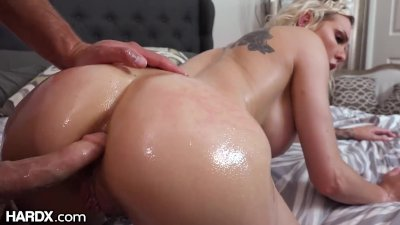 HardX   Busty Blonde Loves Being Fucked Ass To Pussy