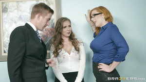 A Sultry Boss Lady Has A BGG Three Way With Two Employees