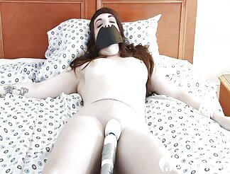 A Tied Brunette Gets Satisfied By Her Boyfriend And A Toy