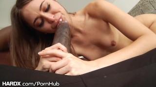 HardX Riley Reid Takes On Mandingos Massive Cock