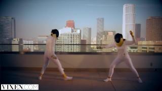 VIXEN Rivals Avery & Naomi Team Up To Seduce Fencing Coach