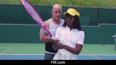 Tennis Babe Ana Foxxx Takes Anal Lessons From Coach