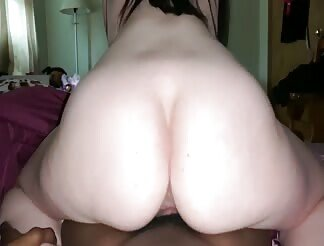 Chubby Girl Rides Black Dick Like A Cowgirl