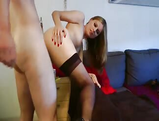 Fucking A Sexy Blonde In Stockings