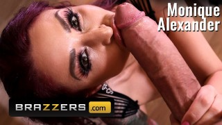 Brazzers   Monique Alexander Finds A Big Cock Spying On Her