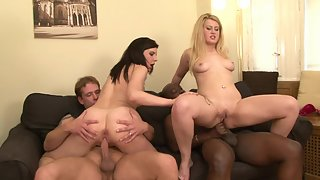 Hot Girls Love Hard Orgy Pounding With Horny Dudes