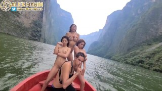 Sex In The Sump Canyon In Tuxtla With My 3 Girlfriends