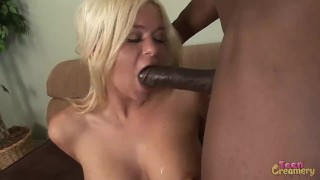 Blonde Milf Gets Fucked Hard By Big Black Cock And Ass Blasted With Cum