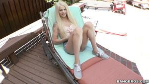 Petite Tiny Blonde Teen Elsa Jean Rides Monster Dick As Reverse Cowgirl