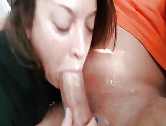 MILF Chokes Deepthroating A Big Fat Cock