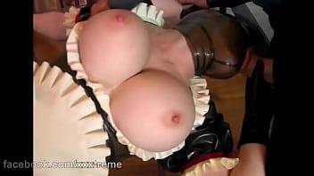 Hot Beautiful Mask Girl Huge Big Boobs     Latex Lucy (European Babe)