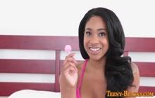 Inked Black Teenage Babe Gets Pounded