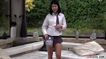 Half Asian Student Lady Dee Craving Cock And Getting Yves Morgan's Huge Black Dong