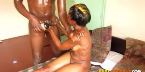 REAL AFRICANS   Black Teen Sucks BBC And Gets Huge Facial