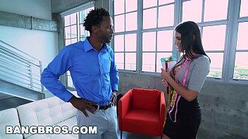 BANGBROS   August Ames Takes A Big Black Dick Like A Pro