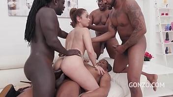 4 Black Dudes Pull A Train On Slender Spaniard Ginebra Bellucci