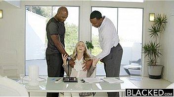 BLACKED Perfect Blonde Karla Kush With 2 Monster Black Cocks