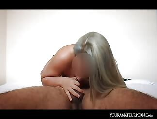 Dazzling Blonde Creampied After Sucking And Riding