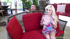 Teeny Blonde Girl Elsa Jean Screams On Big Massive Dink Dank