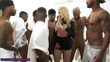 Kali Roses GangBang Big Black Coc [blowbang, Interracial, Blond, Teen, Young, Hardcore