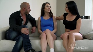 GIRLSRIMMING   Arwen Gold Inna Sirina   Threesome With Rimjob