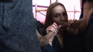 Two Teens Hairy Pussy Fuck Their Boss In Public