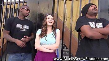 Teen Gets Black Cock Cum